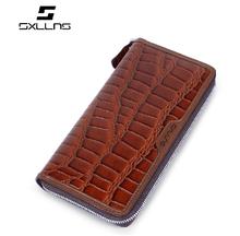 Luxury Crocodile Leather Wallet nice quality crocodile skin men;s leater wallet