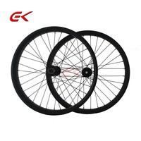 Full Carbon Clincher Fatbike Wheels 100mm width thru axle carbon snow wheelset