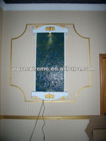 Indoor wall mounted artificial stone water fountain