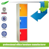 China good supplier 3 doors colorful storage steel locker, godrej almirah designs, steel office cabinet