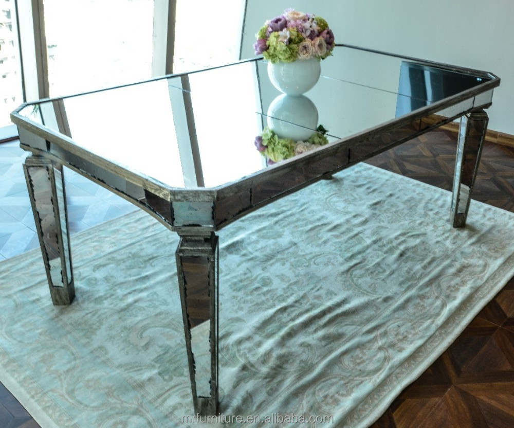 Antique Mirrored Dining Table Buy Wooden Frame Mirror Dining Table