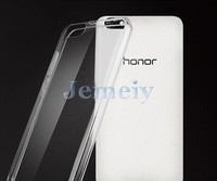 2015 Cell Phone Case for Huawei Honor 4C back cover, Ultra Thin Transparent Clear Soft TPU Glossy Gel Back Waterproof Cover Case