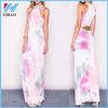 New 2015 Women Vestidos Summer Dress Women Casual Pink Smoke Jersey Knit Sexy Gray Loose Women's Party Dresses Maxi Dress