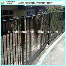 標準1200高鋼ブラックパウダーコーティングされたフラットトップ住宅フェンス