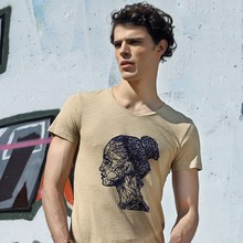 OEM/High-End costom spring and summer fashion bamboo fiber men's round neck short sleeve t shirt men