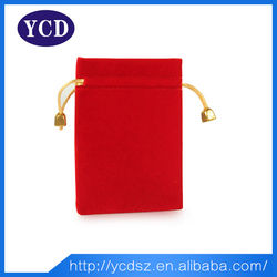 Cheap fashion custom red jewelry packaging pouch