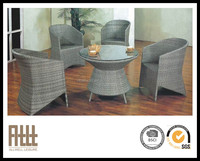 AWRF5165 new design round wicker/resin outdoor furniture rattan dining set