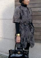 genuine women popular Mongolian sheep fur coat