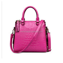 free sample: new products women bag, crocodile grainhandbag High quality leather handbag, hot sale on alibaba bags market
