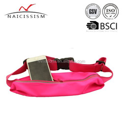 Sports Travel waist bag Neoprene money passport belt bag