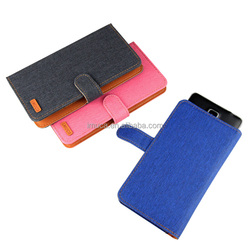 IMUCA 5.8 inch Jeans Slide universal wallet leather smart phone case for Apple/Samsung/HTC/LG/More phone