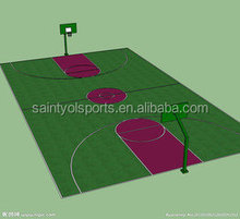 8mm height synthetic grass for basketball
