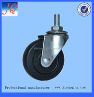 3 inch screw type all size rubber caster wheel wholesale