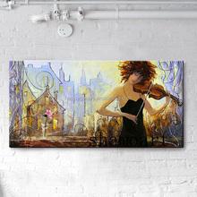 girl playing violin oil paintings