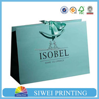 2015 Custom luxury paper bag for cloth and shopping(factory sale price)
