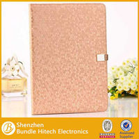 Book Style Diamond Pattern PU Leather Cover For iPad Air