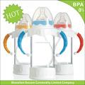 Sgs genehmigt 120ml einweg stroh babyfläschchen, babyflasche speisenwärmer pad