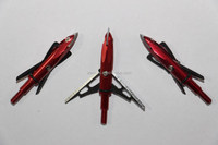 2015 the newest high quality 100gr 2 steel blade red Wholesale Broadhead for hunting
