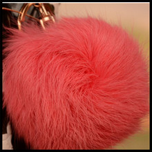 diamond fur ball for iphone 6 case,for iphone 6 rabbit case