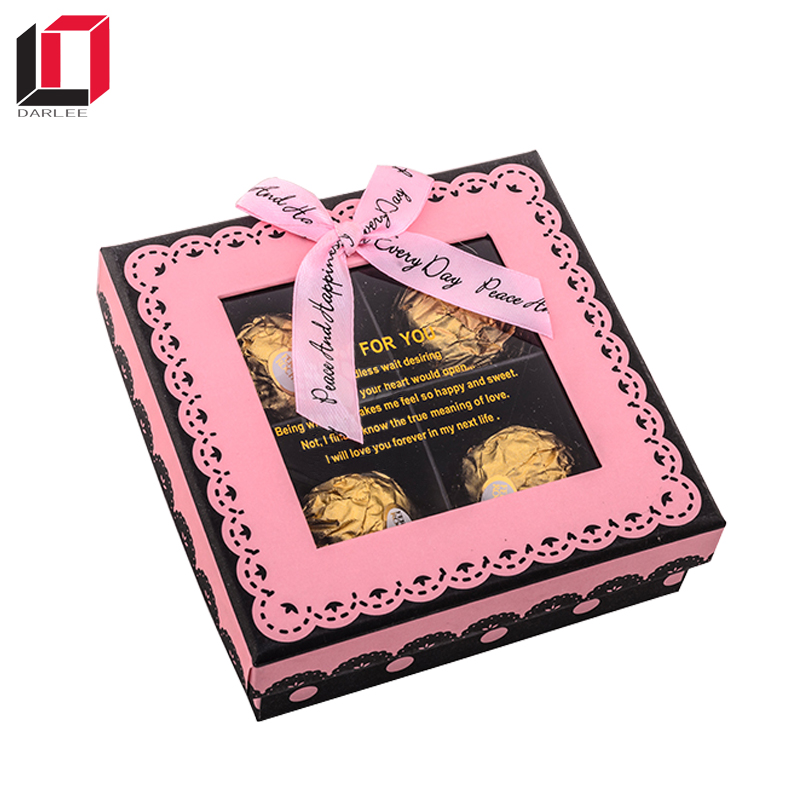 4 pieces chocolate box