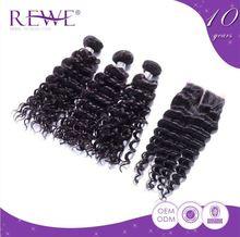 Silk Smooth Deep Wave Human 100% Peruvian Bohemian Hair Extension Manufacturers 6Aaaaa