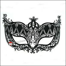 classical half face mask in festival with black and silver color