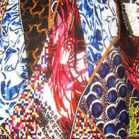 flower design polyester digital textile design print chiffon fabric
