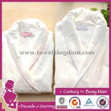 High quality cotton velour hooded adult bathrobe, kimono bathrobe with custom logo