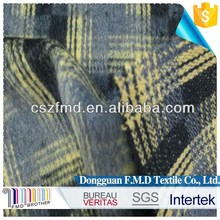 Heavy woolen polyester plaid fabric for winter suit, dress, coat
