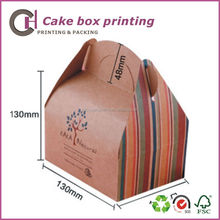 Delicate beautiful small paper cake box