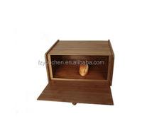 wooden Square Bamboo Bread Box