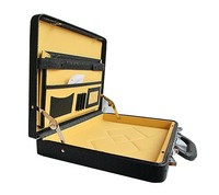 Deluxe black leather briefcase business case RZ-SL-021
