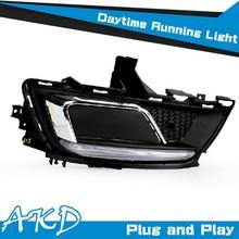 AKD Car Styling for New Cruze DRL 2015 Cruze LED DRL Flash Signal Cruze LED Daytime Running Light Good Quality LED Fog lamp