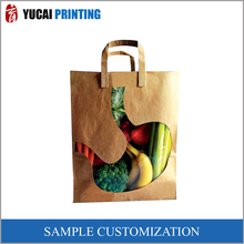 Vegetable packaging bag kraft paper bag for shopping