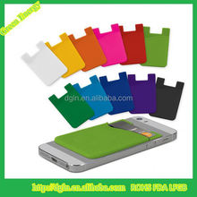 3M Adhesive OEM Silicone cell phone credit card holder for gift