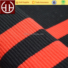 2x2,1x4,1x6 knitted polyester spandex tubular t-shirt collar cuff rib fabric