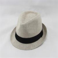 Cheap men natural grass straw fedora hat