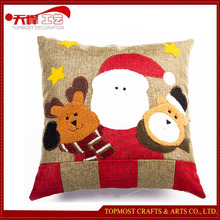 Handmade Christmas Family Decoration Polyester Pillow Christmas Gifts 2015
