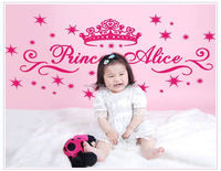 princess alice DF5093 fashional Wall Decals for girl's Living Rooms Free Shipping