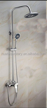 round shower head bathroom shower faucet set/cheap price faucet shower set stainless steel pipe/economic shower faucet set