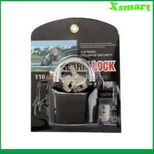Black Waterproof Siren Alarm Padlock Alarm Lock for Motorcycle Bike Bicycle Perfect Security with 110dB Alarm Pad locks