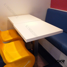 Custom made size and design white bar table