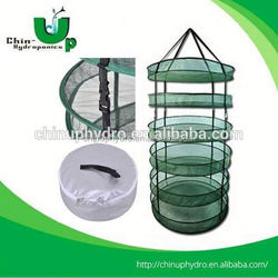 Indoor greenhouse hydroponic drying net/Plant Herb Drying Net/8 tier round mesh drying rack