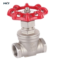 3 Inch Stainless Steel Female Kinds Of Thread Gate Valve 1000WOG