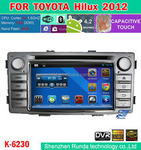Android 4.2 Auto Radio Car DVD with Navigation System for Toyota Hilux 2012-2013,Trade Assurance Supplier