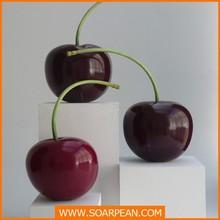 Delicate Decorative Fruit Fiberglass Cherry Sculpture