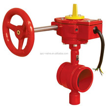 FM UL fire fighting grooved Butterfly valve DN250