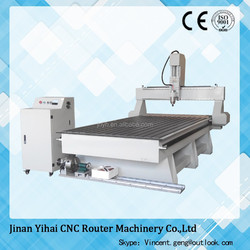 Yihai new design 1325 cnc router heavy duty body with rotary factory price for sale
