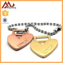 Special Heart shape rectangle hole charm pendant for decoration