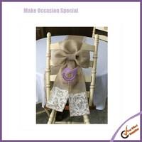 wholesale bow burlap lace chair sash wedding sash